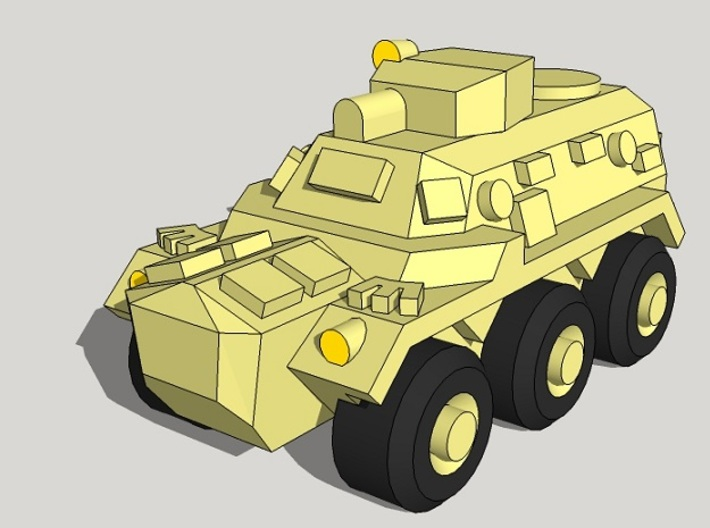 3mm FV603 Saracen APCs (12pcs) 3d printed