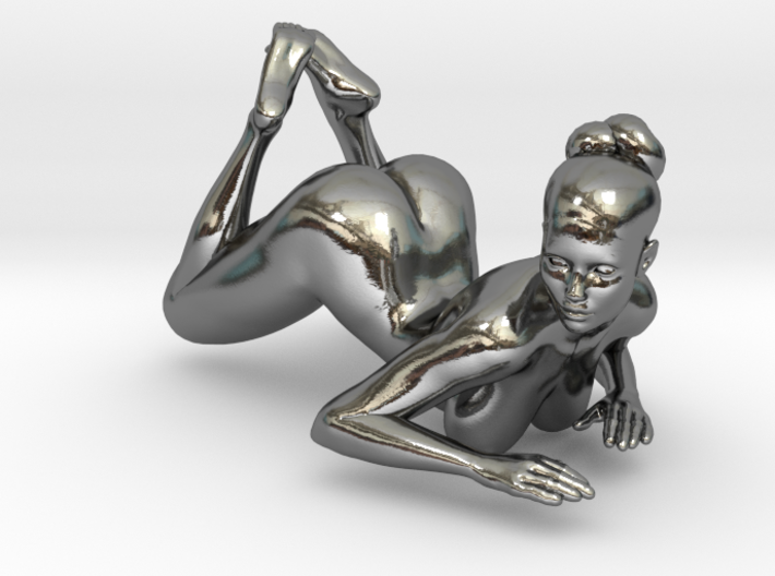 1:24 Sexy Girl-015-Sliver 3d printed