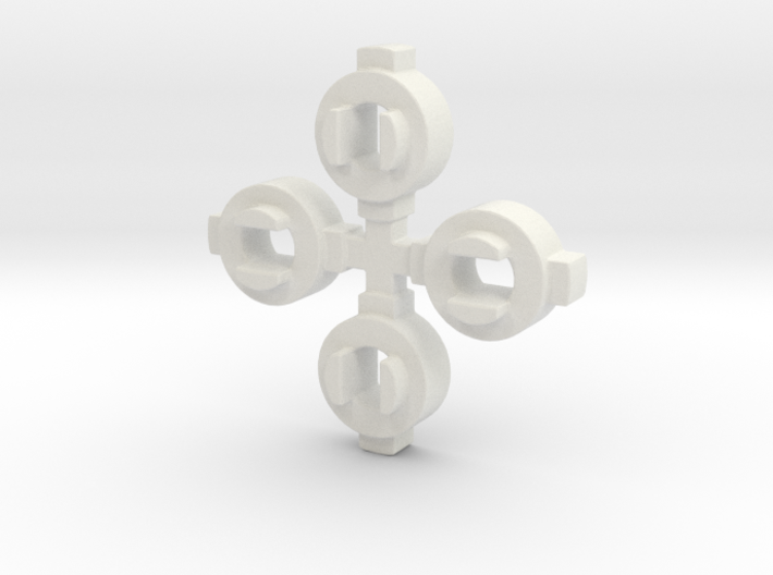 Mini-Z 2WD Autoscale Wheel to AWD Chassis Adaptors 3d printed