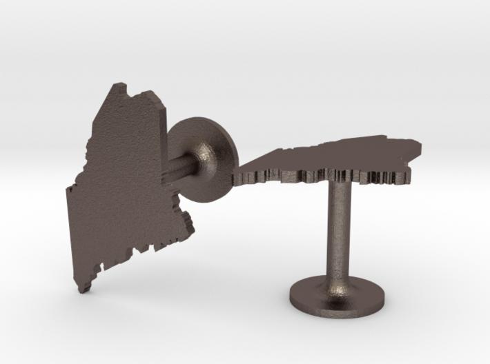 Maine State Cufflinks 3d printed