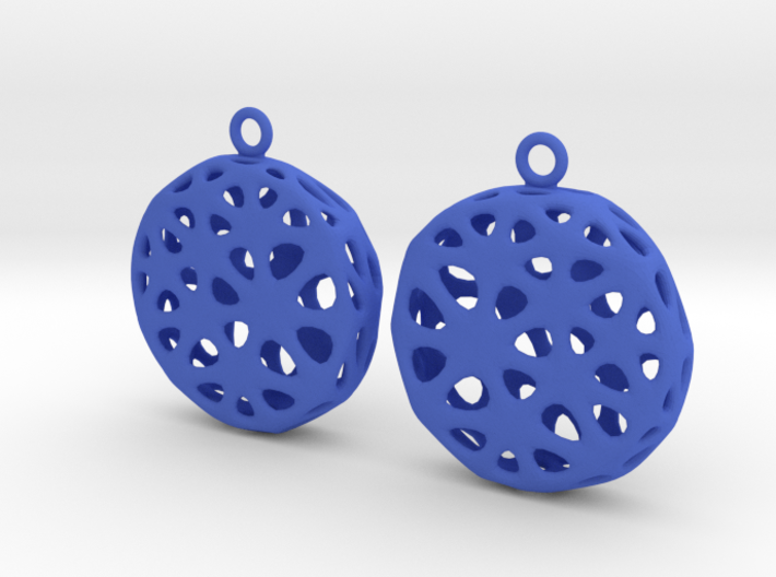 Flowers Earrings 3d printed