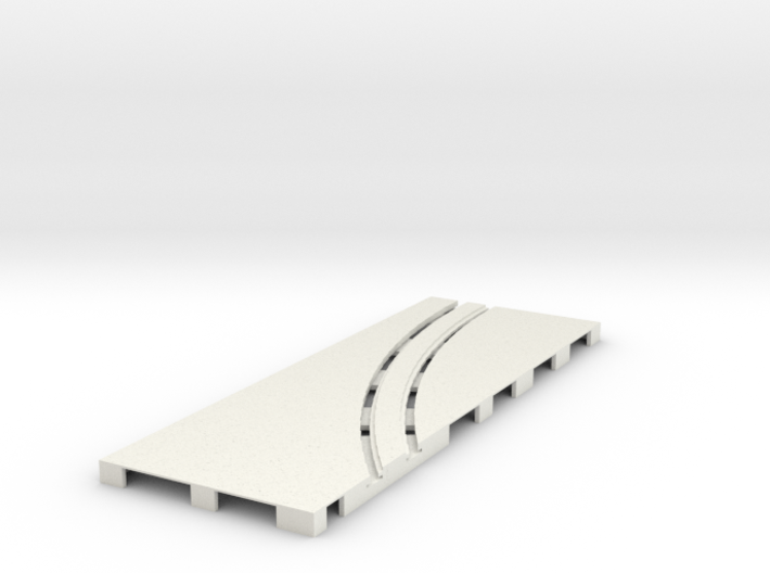 P-65stp-straight-lh-curve-outer-145r-75-pl-1a 3d printed