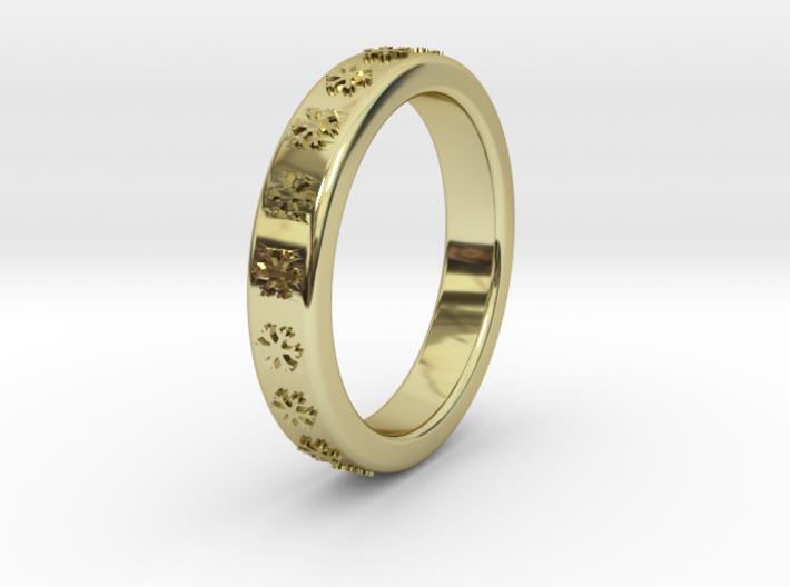 Ø16 mm - Ø0.630inch Ring With Snowflake Motif 3d printed