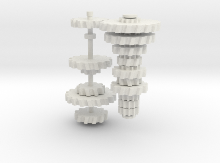 5-Gear Manual Transmission (Gears- Part 2) 3d printed