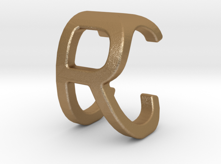 Two way letter pendant - CR RC 3d printed