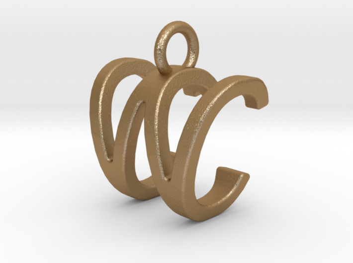 Two way letter pendant - CW WC 3d printed