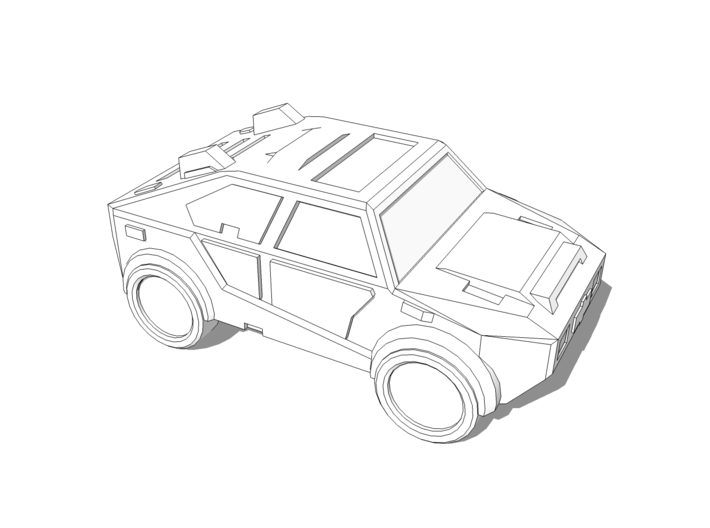 """""""Masterson"""" Utility Vehicle 10mm 3d printed"""