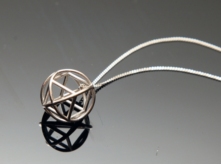 Simple Geometry Pendent 3d printed