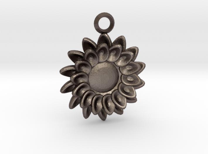 Floral Petal Keychain - Custom Initials 3d printed