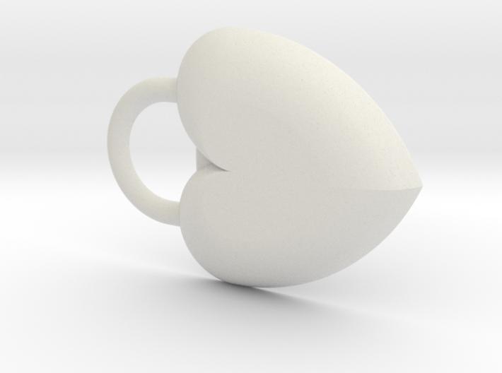 Heart Lock Key Fob 3d printed