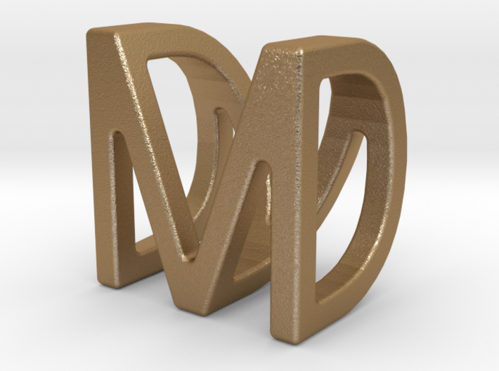 Two way letter pendant - DM MD 3d printed