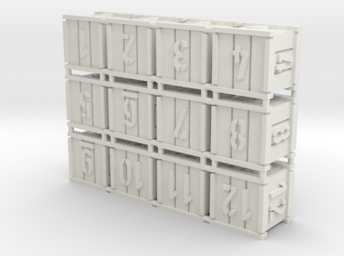 Crates (12 pcs) 3d printed