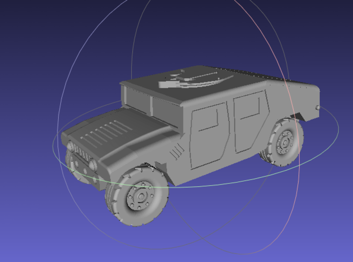 1/144 Humvee Slantback (Single Pack) 3d printed