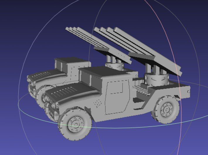 1/144 Humvee SL-AMRAAM launch position (Dual Pack) 3d printed
