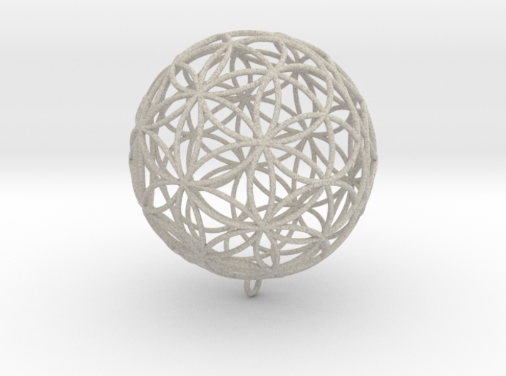 Pendant 55mm Flower Of Life 3d printed