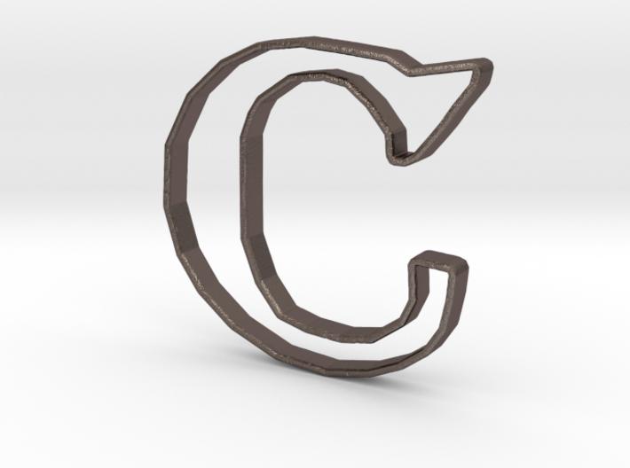 Typography Pendant C 3d printed