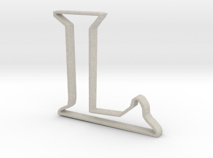 Typography Pendant L 3d printed