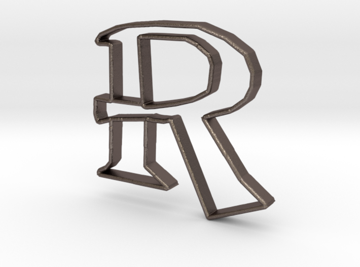 Typography Pendant R 3d printed