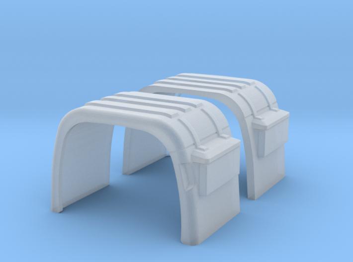 Kotflügel mit Rückleuchtenhalter 3d printed