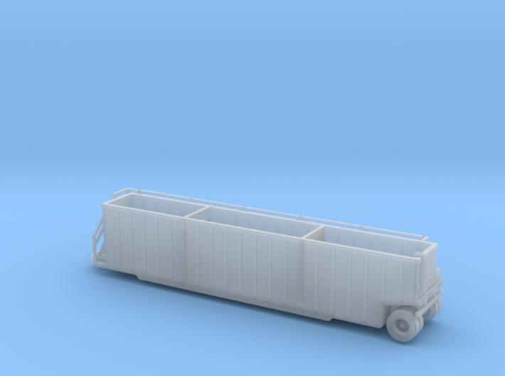 N scale 1/160 Frac Tank 18000 gal Open Weir 3d printed