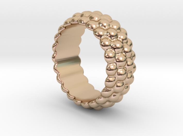 Big Bubble Ring 22 - Italian Size 22 3d printed