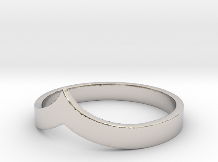 Pointed Stacking Ring 3d printed