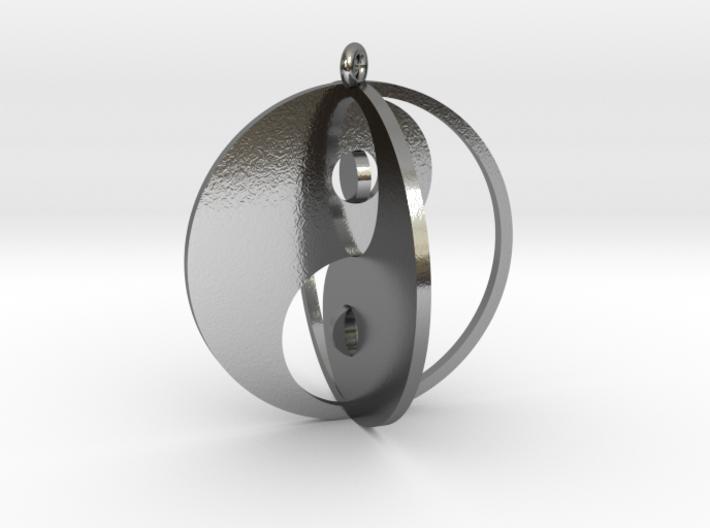 Yin Yang Keychain 1 3d printed