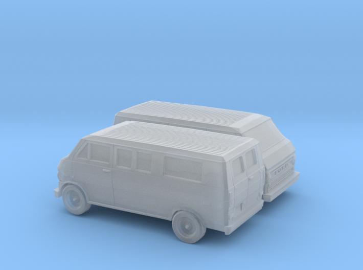1/160 2X 1972-74 Ford Econoline Club Wagon 3d printed