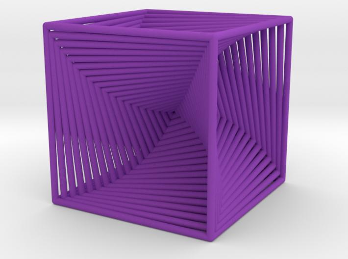 0045 Cube Line Design (3.25 cm) #001 3d printed