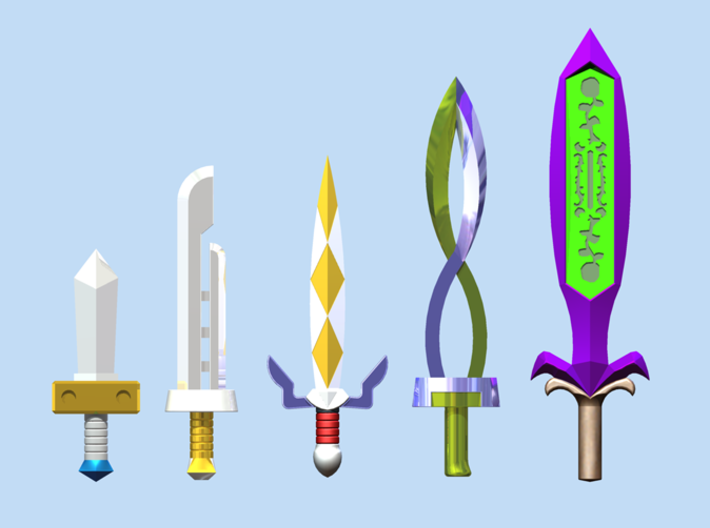 Sword Pack II 3d printed Render