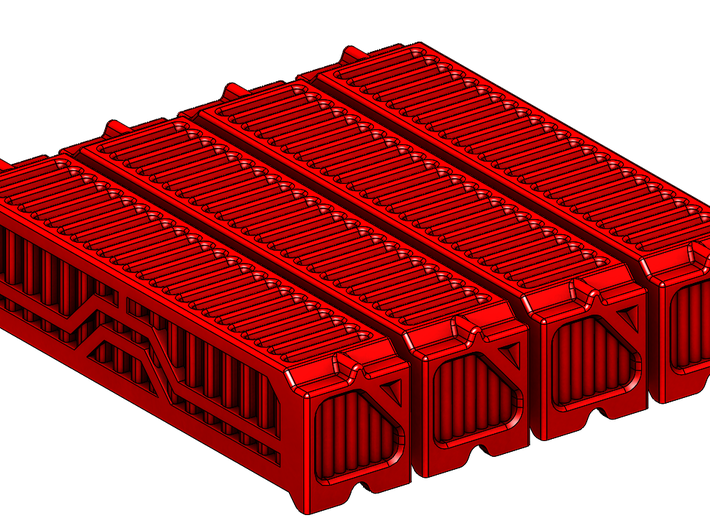 4x 6mm 40Ft Shipping Container 3d printed