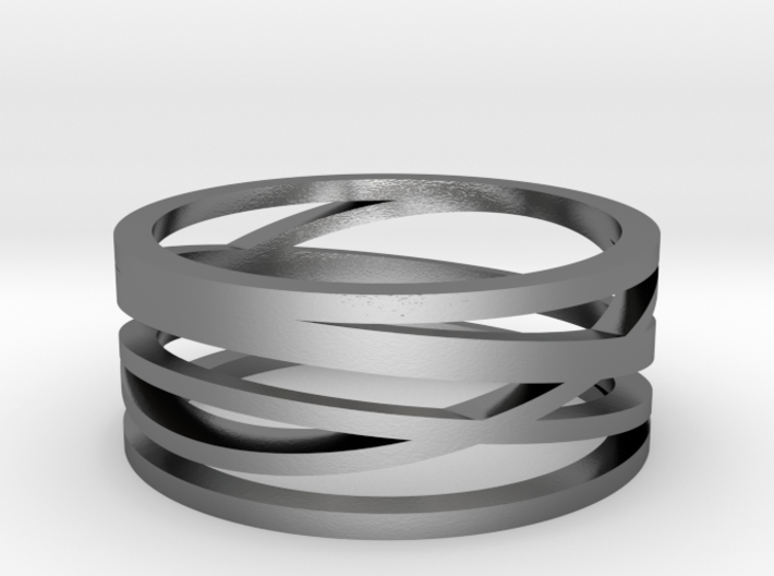 Abstract Lines Ring - US Size 08 3d printed