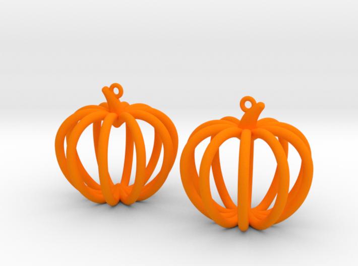 Pumpkin Earrings 3d printed