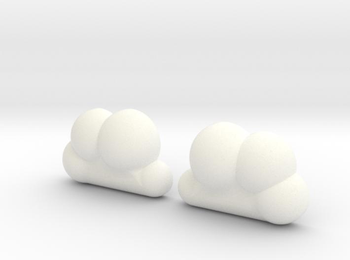 Cloud Studs 3d printed