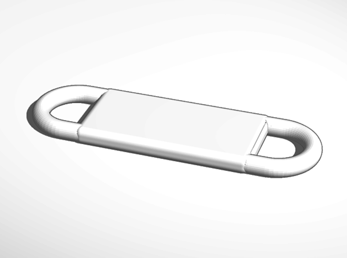 ^keychain add your own lanyard cord 3d printed External Render