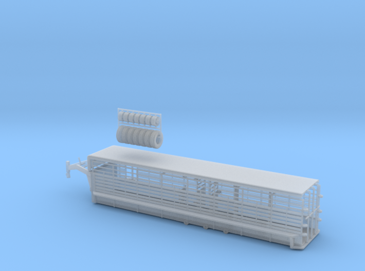 1/64 32' Cattle Trailer Bar Style 3d printed