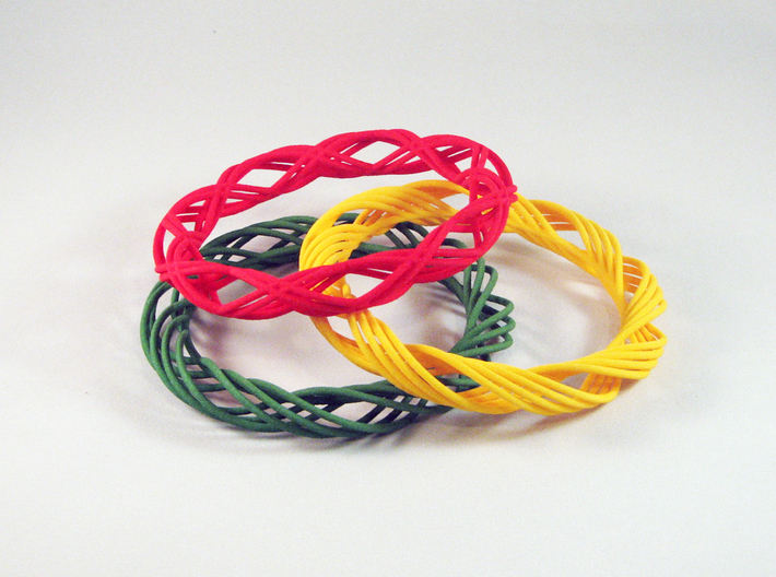 Twist Bangle C02L 3d printed