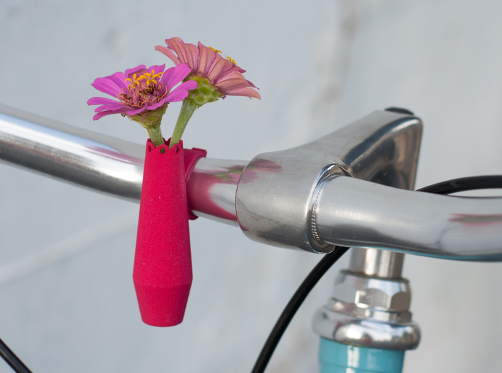 Scalloped Bike Planter 3d printed