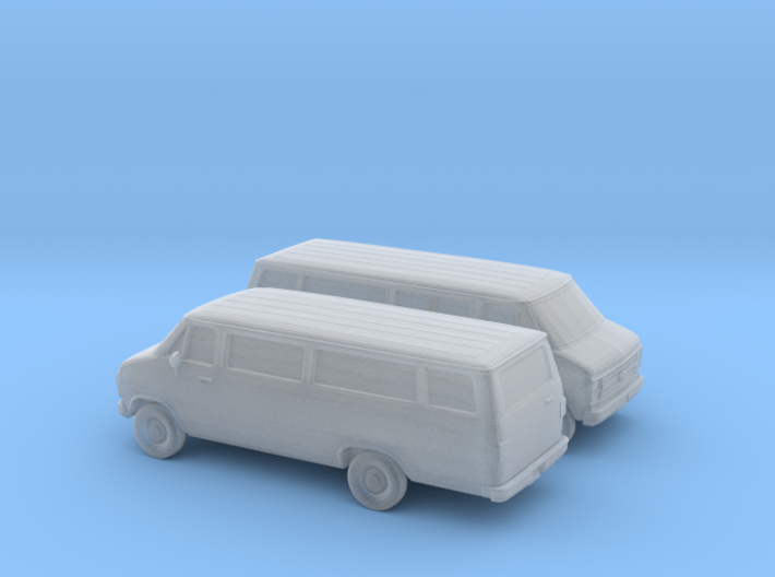 1/160 2X 1985 Chevrolet G Series Ext. Van 3d printed
