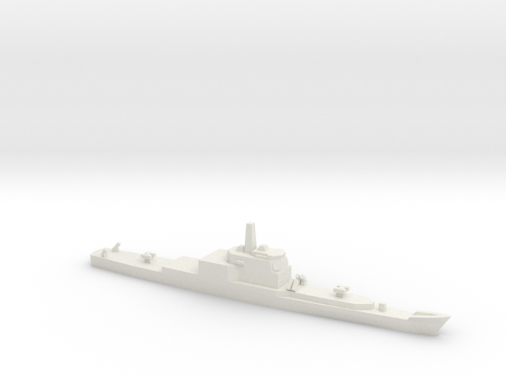 Long Beach Refitted with Aegis, 1/3000 3d printed