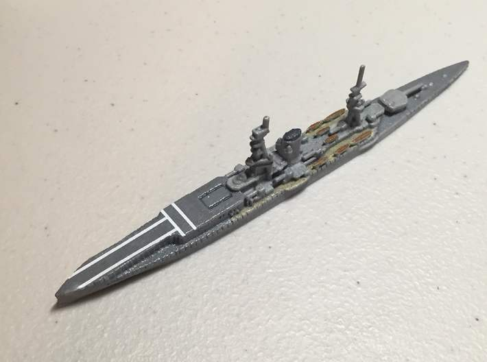 1/1800 HMS Furious BC-CV (1917) 3d printed WSF Polished shown. Painted by Variable