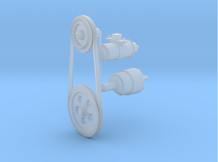 SR20002 Mk2 SRB Main Engine detail Part 2 of 2 3d printed Parts as they come from Shapeways