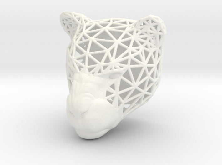 Panther Trophy Wireframe 80mm 3d printed