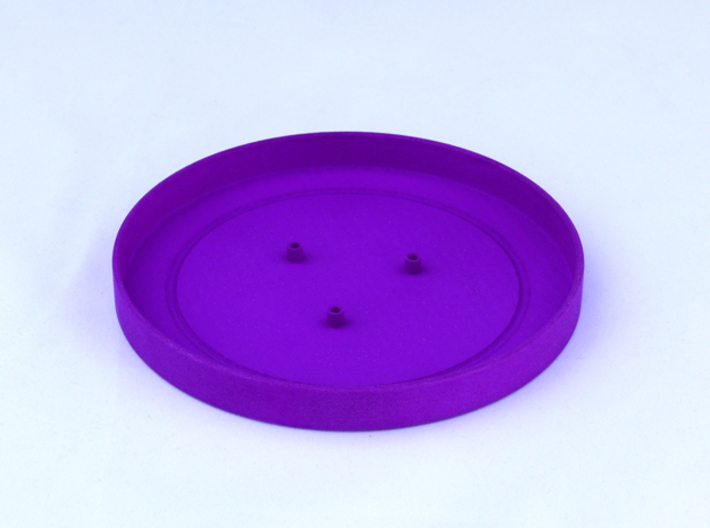 TriCyclone Vape Stand: Bottom Round Plate 3d printed