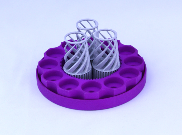 TriCyclone Vape Stand: Three Cyclones 3d printed Fully Built