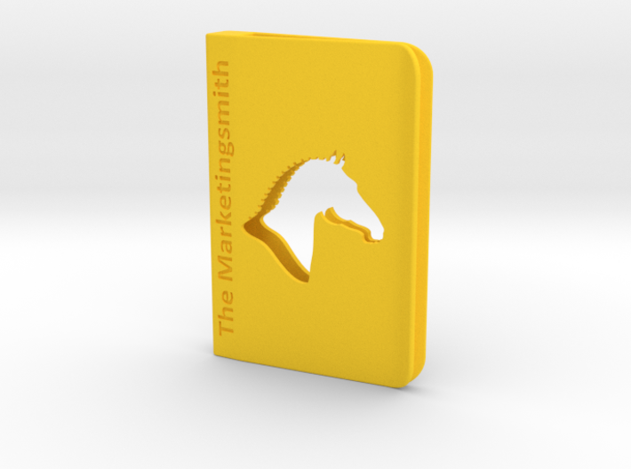 branded square business card holder clip style 3d printed - Square Business Card Holder