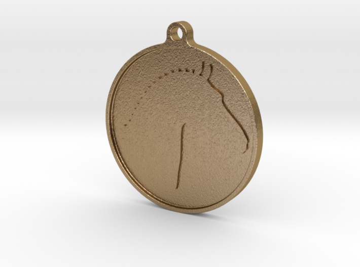 Branded Pendant (TheMarketingsmith) 3d printed