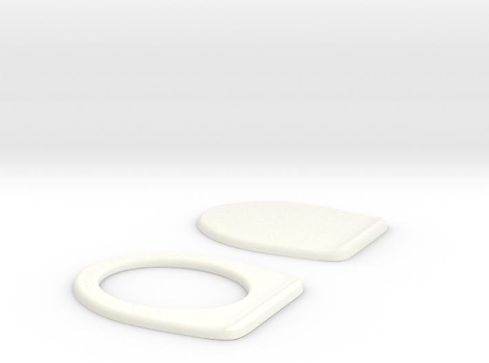 Miniature Toilet Seat B 1/12 3d printed