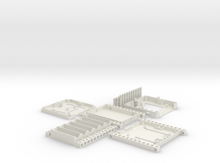 Bitbeam case set for Arduino UNO R3 3d printed Only this parts are included and 3D printable