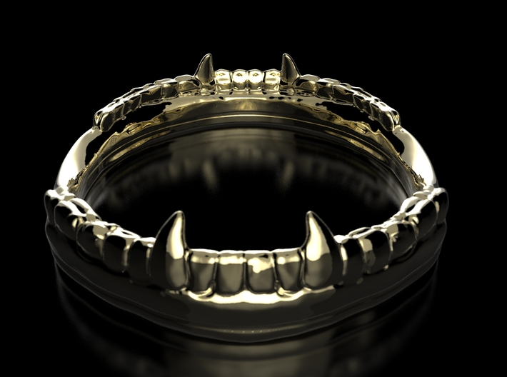 Vampire Teeth Ring 3d printed